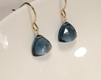 Gemstone earrings, hydro quartz earrings, drop earrings, dangle earrings