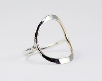 Silver Circle Ring - Circle Ring - Silver Ring Women - Geometric Ring - Delicate Ring - EcoFriendly Sterling Silver - Everyday Ring R4040