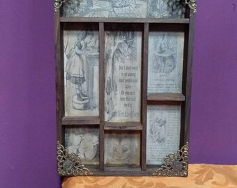 Alice in Wonderland Cabinet of curiosities