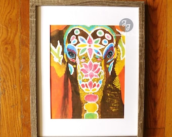 "Printable Dorm Art/Wall Print- ""Bali Elephant"""