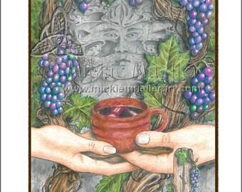 Vine Card Giclee Print