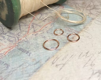 6mm very tiny hoop earrings, Rose gold cartilage hoop, 5mm nose ring, Small 4mm hoop, Tragus piercing, 22g helix jewelry, Shop womens gift