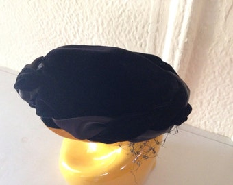 Black Velvet Fascinator Hat