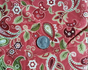 Scant Yard Paisley Fabric, MBT