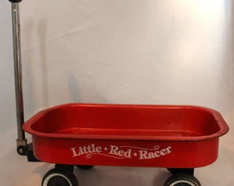 Little Red Racer decorative steel wagon