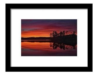 Mascuppic Lake at Sunset