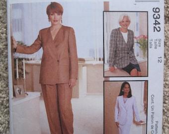 UNCUT Misses Lined Jacket, Pants and Skirt - McCalls Pattern 9342
