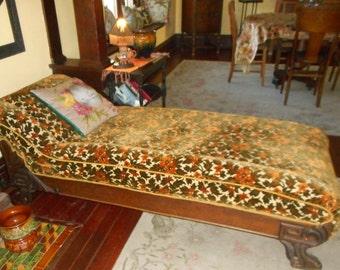 Art Nouveau Fainting Sofa Lounge Late Victorian Sofa