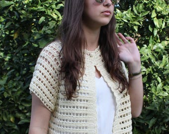 Lacy Sweater Vest Pattern Dress Top Crochet Bolero Shrug Bolero Crochet Shrug Crochet Sweater Vest Crochet Vest Bolero Crochet Pattern
