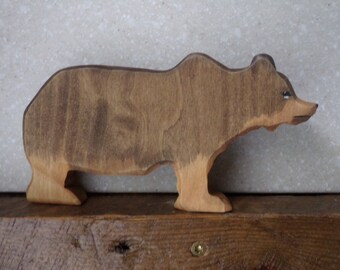 North American Grizzly Bear wooden Waldorf style