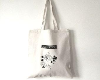 TOTE Bag - Cotton Tote Bag - Canvas Shopping bag - Flower C