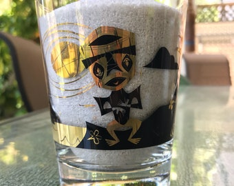 Land of Enchantment Mai Tai Glass (Black w/ 22kt Gold)