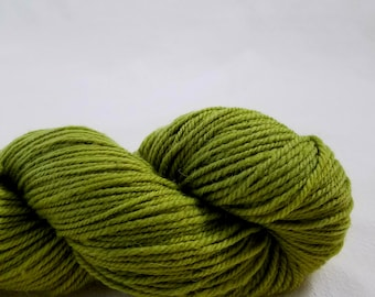 Local Aran Corriedale Wool - Goldenrod Green Hand Dyed Yarn