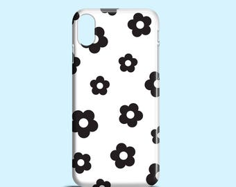 Bold floral iPhone X case / Black and white iPhone 8 case, 8 Plus case, cute iPhone 7, 7 Plus, graphic iPhone 6, summer iPhone 6, 5, 5S, SE
