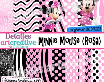 Kit papers and Minnie Mouse Clipart
