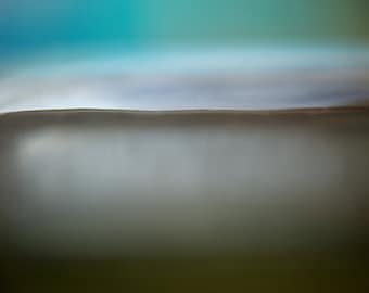 Turquoise sky, abstract seascape, zen wall art, oversized canvas art, emotional landscape, abstract landscape, light blue, grey