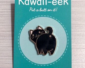 Black Cat Hard Enamel Pin