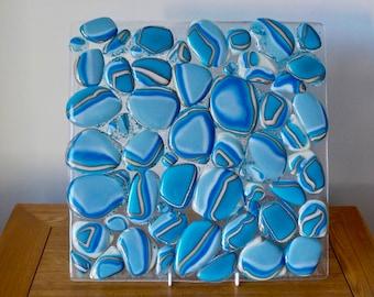 Fused Glass pebble panel