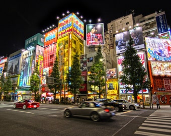 Tokyo Night 2 - Japan - Electric City - Cityscape - Skyline - Lights - Asia - Street Photography - Travel - Colorful - Art - Large Format