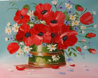 Poppies  Original Oil painting