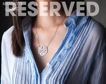 Reserved for Myriam - Five 1.25 inch necklaces in sterling silver - 18 inches -