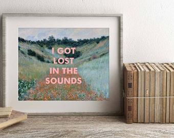 Regina Spektor Art Print, Lyrics Print, song lyrics poster, wall art, fine art, Fidelity, pop, indie, 8x10 print, Gift Ideas, Wall Decor