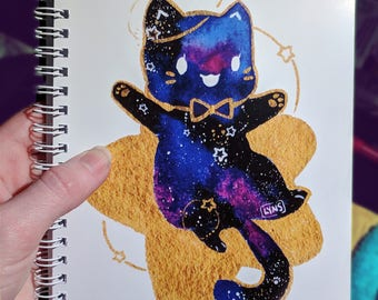 Bow Tie Galaxy Space Cat Doodle Book