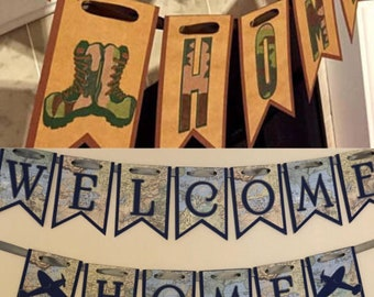 Welcome Home military Banner, Welcome home banner, Military homecoming, deployment homecoming, Welcome home sign, Welcome home Banner
