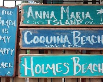 Distressed Custom Beach Sign
