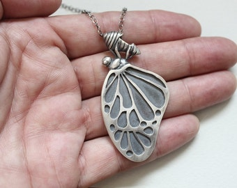 Butterfly gifts Insect jewelry Butterfly necklace Gift for women Butterfly gift Animal jewelry Butterfly jewelry Biology gifts Insect