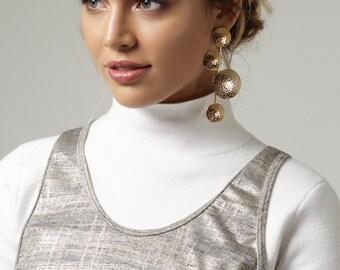 Gold Plated BADU Earrings