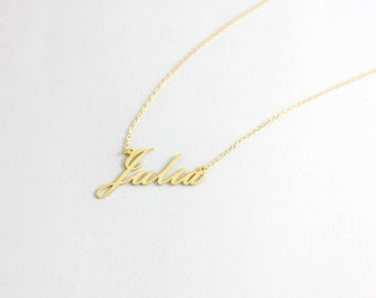 Small Name Necklace, Custom Name Necklace, Personalized Necklace, Gold Name Necklace, Personalized Jewelry, Mothers Gift, Mom Jewelry SN0224