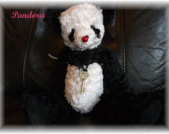 Steiff Schulte Mohair Panda Teddy Bear 'Pandora'  Handsewn  One-of a Kind
