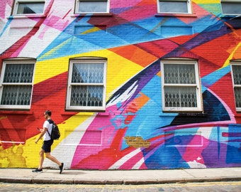 Street Art Photography - London Print - Shoreditch Mural - Mad C