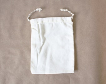 8 x 10 -- Set of 10 Plain Cotton Muslin Double Drawstring Bag for DIY Crafts, projects