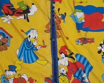 "Disney Curtains Goofy Maribel Scrooge Mcduck Donald 2 Panels Pom Poms 78"" x 36"""