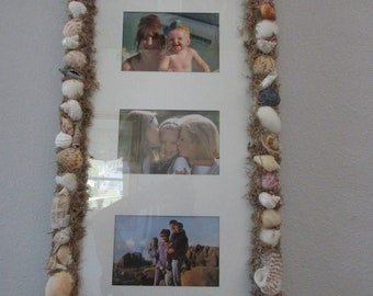 Shell covered picture frame