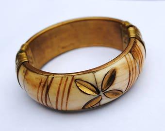 Vintage bone bracelet