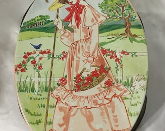 Pretty In Pink Lady Picnic Tin