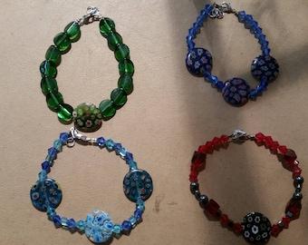 Venetian Glass Beaded Bracelets