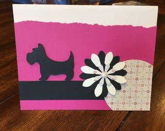 Scottie dog birthday card