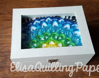 Quilled mandala box