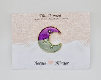 Enchanted Moon Needleminder/Magnet for Cross Stitch/Embroidery
