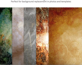 DIGITAL Photography Background Set - ARTISTIC GRUNGE - (5) 16x20 Large Backgrounds for Scrap Bookers and Photographers.