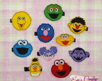 Sesame Street Feltie Clips. Elmo Felt Clips, Girls hair clips, clip, clips, hair accessories, fun hair clips