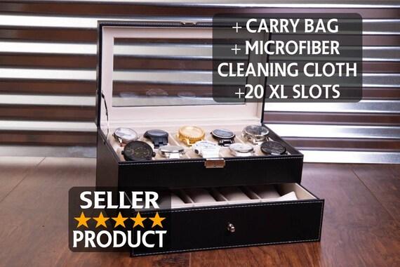 20 Slot Watch Box Case Sunglass Watch Storage Watches
