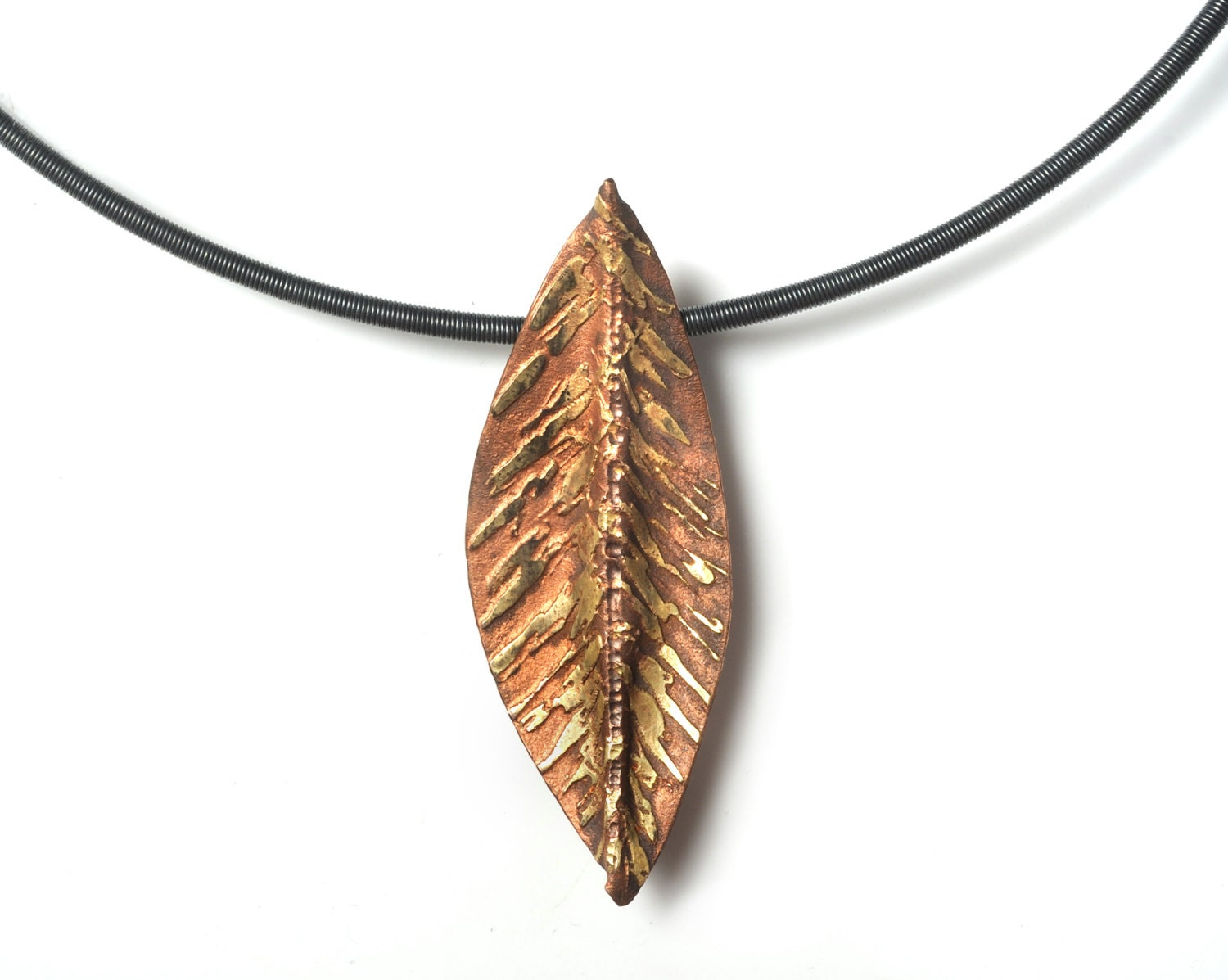 santayana jewelry leaf miami a photo yellow pendant necklace gold of shop