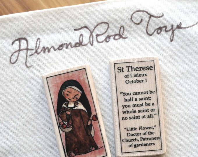 St Therese of Lisieux Patron Saint Block - The Little Flower