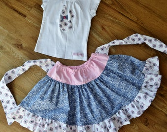 Zoe skirt with matching cotton t-shirt