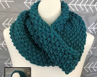 Knit cowl/hood